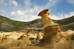 Hoodoos Drumheller Alberta Badlands Royalty Free Stock Images