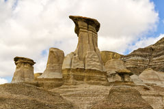Hoodoos Drumheller valley Stock Photos