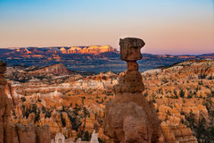Hoodoos in early morning light in Bryce Canyon National Park. Orange and pink hoodoos in early morning light, Bryce Canyon National Park, Utah Stock Photos