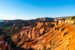 Hoodoos in early morning light in Bryce Canyon National Park. Orange and pink hoodoos in early morning light, Bryce Canyon National Park, Utah Royalty Free Stock Image
