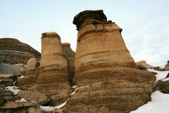 Hoodoos et bad-lands Photo stock