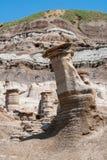 Hoodoos, a geologic formation in the badlands - Alberta, Canada royalty free stock photo