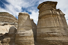 Hoodoos near Drumheller Stock Images