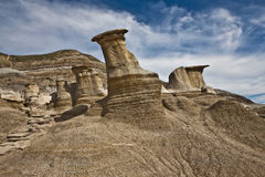 Hoodoos near Drumheller Stock Photos