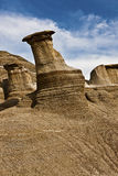 Hoodoos near Drumheller Royalty Free Stock Images