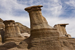 Hoodoos near Drumheller Stock Photography