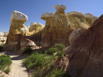 Hoodoos at Paint Mines Stock Photos