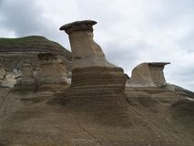HooDoos in the Prairies Stock Photos