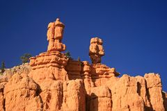 Hoodoos in Red Canyon Utah, Utah. Hoodoos that look like sentinels in Red Canyon Utah, Utah between Zion National Park and Bryce Canyon National Park Stock Photography