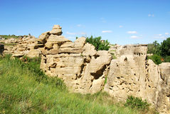 Hoodoos and sandstone field Stock Image