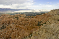 Hoodoos  and scenic view Royalty Free Stock Images