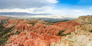Hoodoos  and scenic view Royalty Free Stock Photo