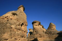 Hoodoos, Shapes, and Shadows Stock Images