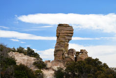 Hoodoos stand out from their surrounding of Arizona's mountains. Royalty Free Stock Photos