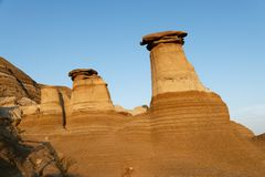 Hoodoos at sunset stock photo