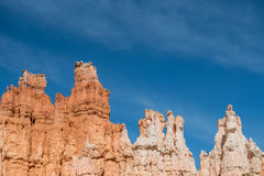 Hoodoos with Whispy Clouds Royalty Free Stock Images
