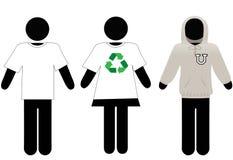 Hoody Leute XXL copyspace Sweatshirt der T-Shirts Lizenzfreie Stockbilder