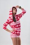 hoody pink för flicka Royaltyfria Bilder