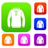 Hoody set collection. Hoody set icon in different colors isolated vector illustration. Premium collection Stock Photography