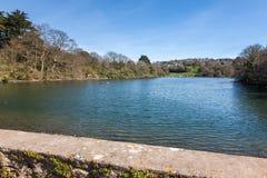 Hooe Lake Plymstock Plymouth Devon England stock images