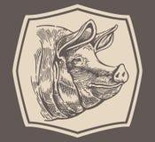 Hoofd aan een varken stock illustratie
