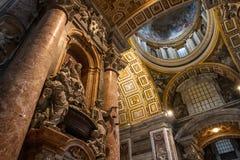 Hoofd Beeldhouwwerk - Heilige Peter Basilica - Vatikaan Royalty-vrije Stock Afbeelding