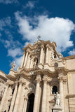 Hoofd cathredal van Ortigia Stock Afbeeldingen