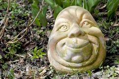 Hoofd dat van terracotta wordt gemaakt stock afbeeldingen