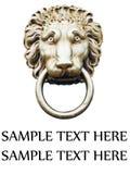 Hoofd de deurkloppers van de leeuw Royalty-vrije Stock Fotografie