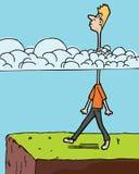Hoofd in de Wolken Stock Foto's