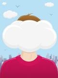 Hoofd in de Wolken stock illustratie