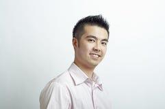 Hoofd en schouders Aziatische mens Stock Afbeelding