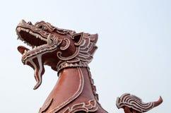 Hoofd en staart van een leeuwstandbeeld Royalty-vrije Stock Fotografie