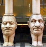 Hoofd grappige kolommen Stock Afbeeldingen