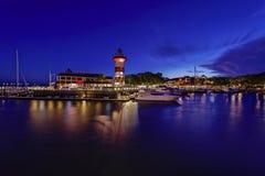 Hoofd het eilandvuurtoren van Hilton Stock Foto