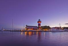 Hoofd het eilandvuurtoren van Hilton Royalty-vrije Stock Foto's
