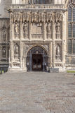 Hoofd ingang aan de Kathedraal van Canterbury, Kent, Engeland Royalty-vrije Stock Afbeeldingen