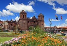 Hoofd Kathedraal in Cusco, Peru Stock Fotografie