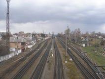 Hoofd lijnen van ivano-Frankivsk Stock Foto
