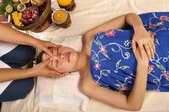 Hoofd massage Stock Afbeelding