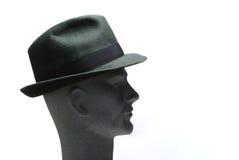 Hoofd met hoed - profiel Royalty-vrije Stock Foto's