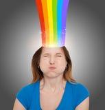 Hoofd met regenboog Royalty-vrije Stock Afbeeldingen