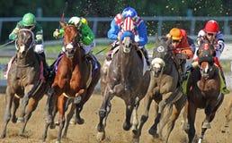 Hoofd op het Rennen Actie Royalty-vrije Stock Foto