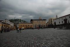 Hoofd plein in Quito Royalty-vrije Stock Fotografie