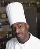 Hoofd schot van chef-kok. royalty-vrije stock foto's