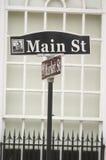 Hoofd St straatteken in kleine stad de V.S. Royalty-vrije Stock Foto's