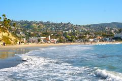 Hoofd Strand, Laguna Beach stock foto