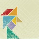 Hoofd tangram Royalty-vrije Stock Afbeeldingen
