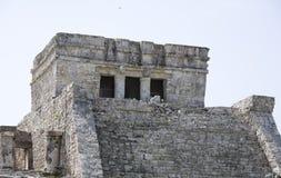 Hoofd tempel in Tulum Stock Foto's