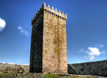 Hoofd toren van kasteel Melgaco Royalty-vrije Stock Foto's